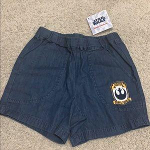 Hanna Andersson boy's Star Wars denim Shorts
